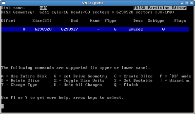 fdisk partition editor