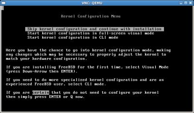 Skip kernel configuration